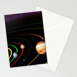 Solar System, the Sun, Planets, & Kuiper Belt by Image Editor Stationery Cards