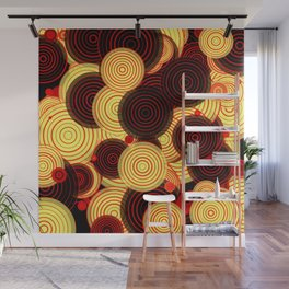 Layered circles Wall Mural