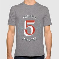 I'll Be There in 5 Minutes Tri-Grey SMALL Mens Fitted Tee