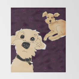 Pippin and Grendel Throw Blanket