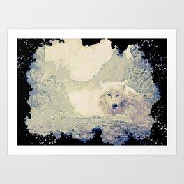 wolf canvas print Art Print