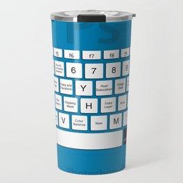 Photoshop Keyboard Shortcuts Blue Opt+Cmd Travel Mug