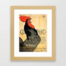 """Théophile Steinlen """"Cocorico"""" Framed Art Print"""