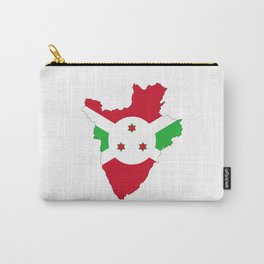 burundi flag map Carry-All Pouch