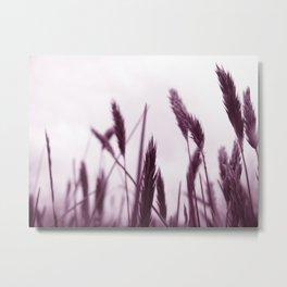 PURPLE GRASS Metal Print