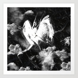 Fly Above The Clouds Art Print