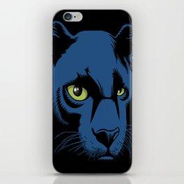 Black Panther Head iPhone Skin