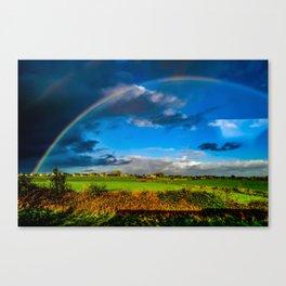 Rainbow over Ireland Canvas Print