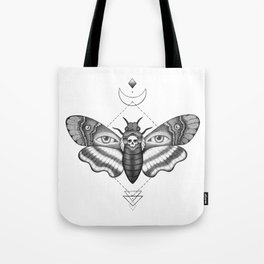 Dotwork Death's-Head Hawkmoth Tote Bag