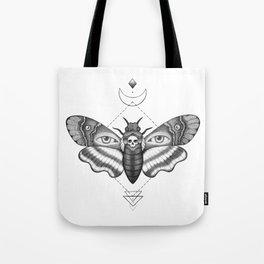 Dotwork Death's-Head Hawkmoth Tote Bag