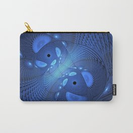 The blue Depth, Abstract Fractal Art Carry-All Pouch