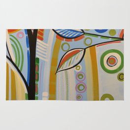 Abstract Art Landscape Tree Painting ... The Sound of Sunshine 2 Rug