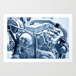 Turbo Diesel Engine Art Print
