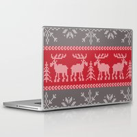 sweater Laptop & iPad Skins featuring Sweater Weather by K&C Design