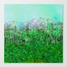 On Lilypads in Algae Ponds Canvas Print