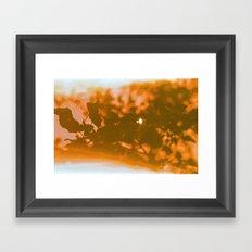 orange haze and white sunlight Framed Art Print