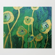 Lotus Blossoms in the Swamp Canvas Print