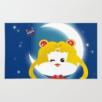 sailormoon Area & Throw Rugs featuring SailorMoon MeyMey by Raimondo Tafuri