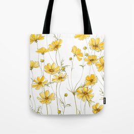 Yellow Cosmos Flowers Tote Bag