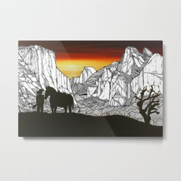 It's A Wild West Out There Metal Print