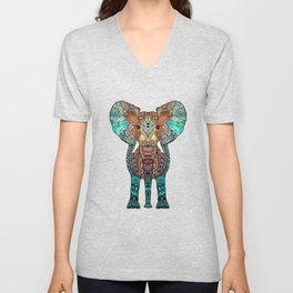 BOHO SUMMER ELEPHANT Unisex V-Neck