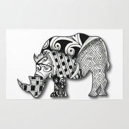Zentangel Rhino Rug