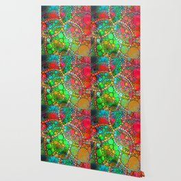 Colorful Bubble Pattern Abstract Wallpaper