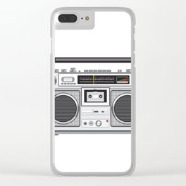 Vintage Portable Radio Cassette Player Retro Clear iPhone Case