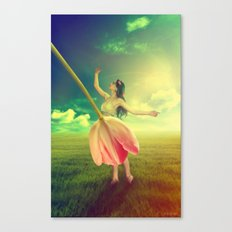 The Girl With the Flower Dress  Canvas Print