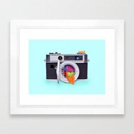 WASHING CAMERA Framed Art Print