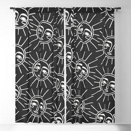 Sun Pattern Blackout Curtain