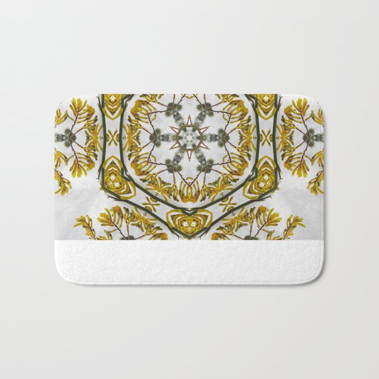 Striking kangaroo paw kaleidoscope Bath Mat