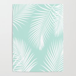Mint Tropical Pattern Poster
