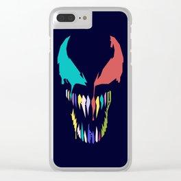 Symbiote in Pop art Clear iPhone Case