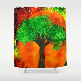 THE FOREVER TREE Shower Curtain
