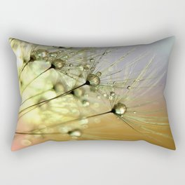 Dandelion & Droplets Rectangular Pillow