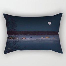 New Year's Ice Fishing Rectangular Pillow