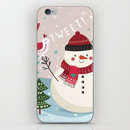 The Sweet Song Of Winter Friends iPhone Skin