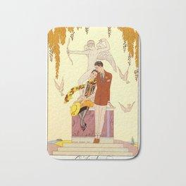 George Barbier - Automne (art deco print) Bath Mat