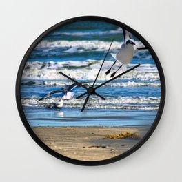 Sea Gulls on the Shore of Corpus Wall Clock