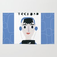 dad Area & Throw Rugs featuring Tech Dad by Susse Collection