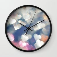 hearts Wall Clocks featuring Hearts by haroulita