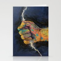 lightning Stationery Cards featuring Lightning by Michael Creese