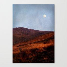 Moon Over Rannoch Canvas Print