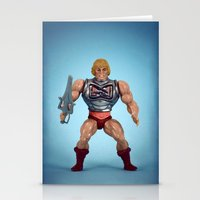 he man Stationery Cards featuring He-Man Battle Damage  by Fanboy30