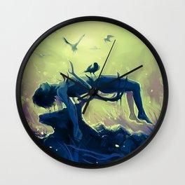 Hannibal death scene - Minnesota Shrike Wall Clock