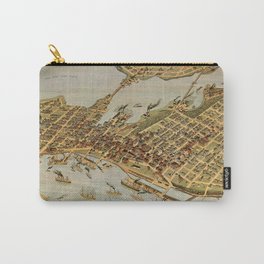 Vintage Pictorial Map of Vancouver BC (1898) Carry-All Pouch