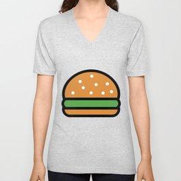 Burger Lover Design Cute And Funny Food Gift Idea Unisex V-Neck