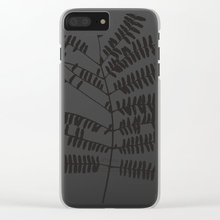 Leaf #Black Clear iPhone Case