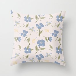 freya pink flower Throw Pillow